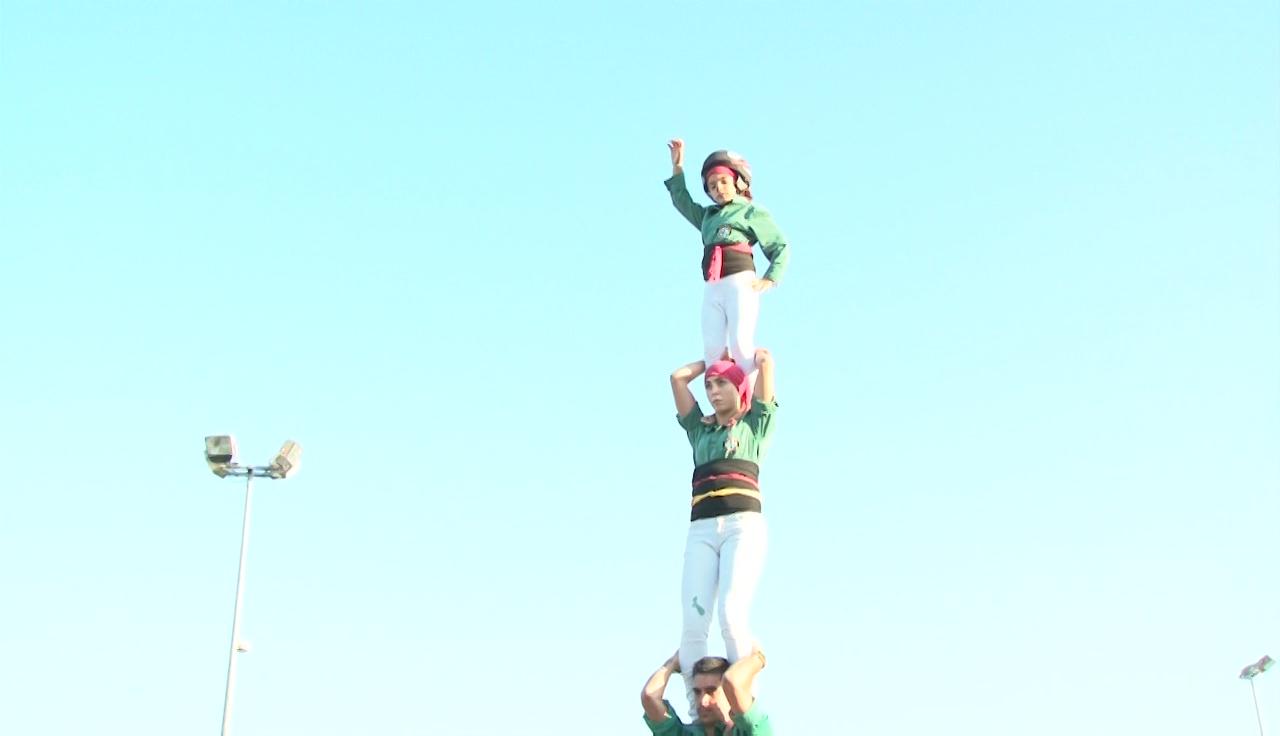 Gran diada castellera per la Festa de Sant Martirià a Banyoles