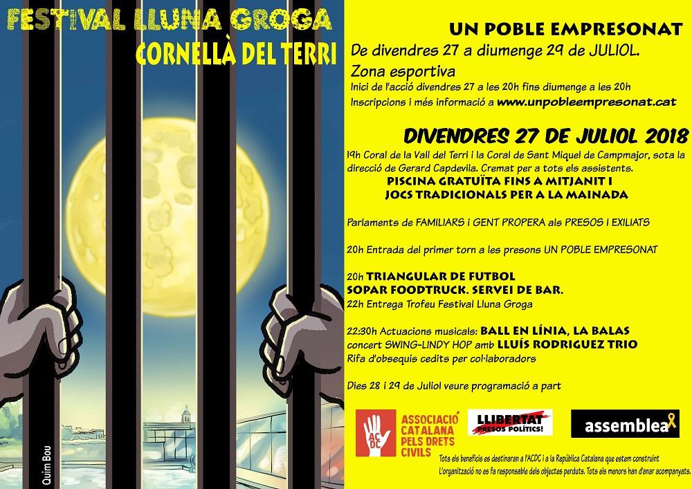 Cornellà del Terri organitza una festa per demanar la llibertat dels presos polítics i el retorn dels exiliats