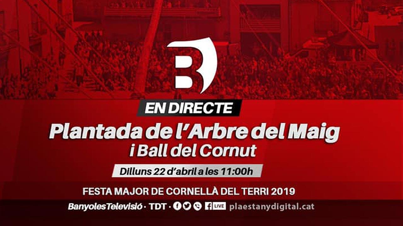 Festa Major de Cornellà del Terri 2019: Retransmissió de la Plantada de l'Arbre del Maig i el Ball del Cornut